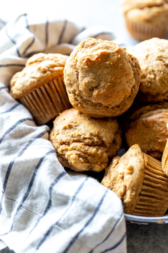 Healthy Peanut Butter Banana Muffins
