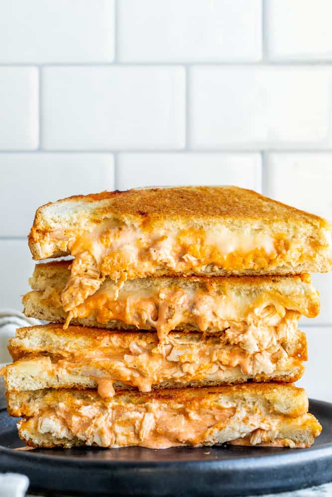 Buffalo Chicken Grilled Cheese Recipe | Erhardts Eat