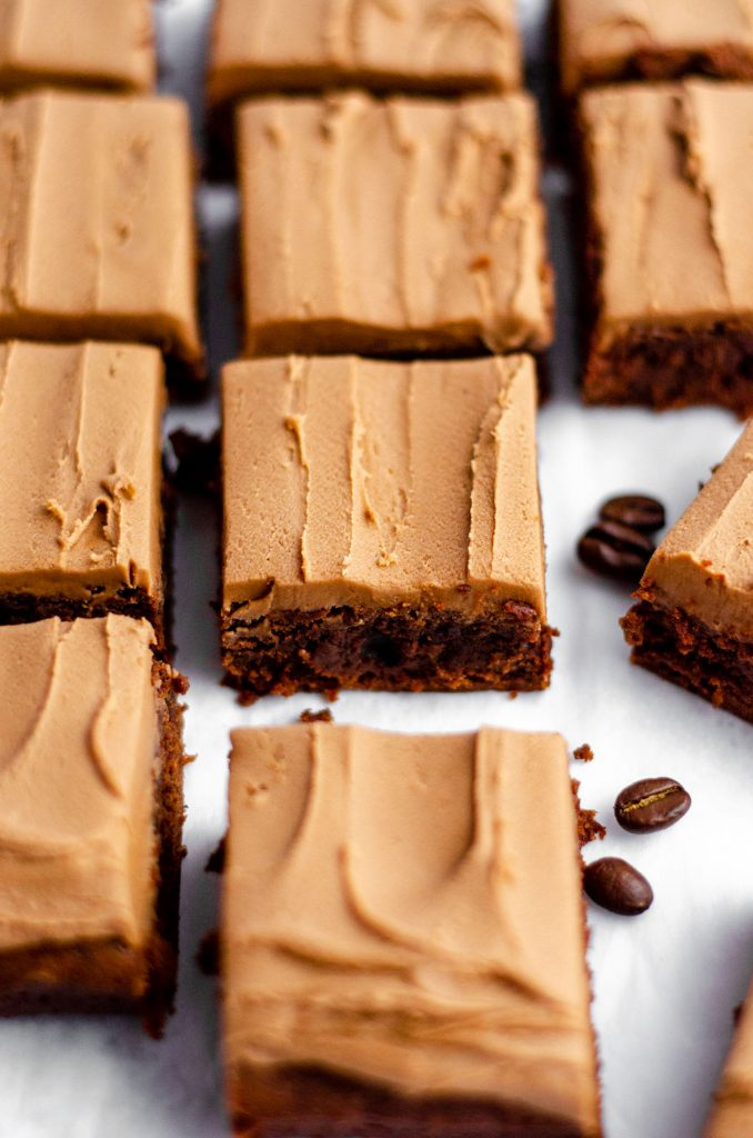 Coffee Brownies with Mocha Frosting