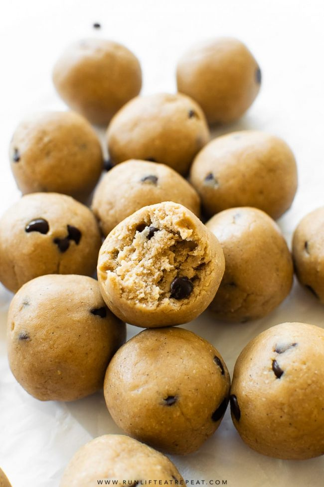 Cookie Dough Protein Bites - Run Lift Eat Repeat