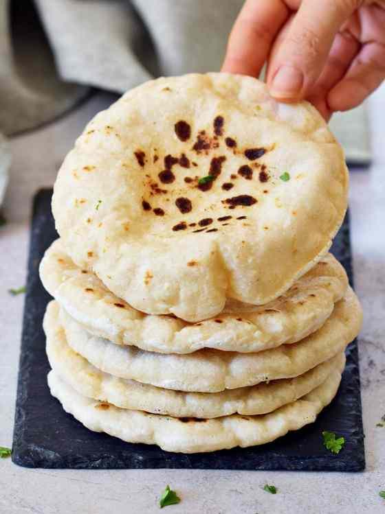 Gluten-Free Pita Bread   Easy Flatbread Recipe - Elavegan